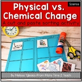 Physical vs. Chemical Change {FREE cut & paste activity}
