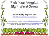 Pick Your Veggies Sight Word Game