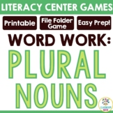 Pick-a-Plural {File Folder Game for Practicing Singular an