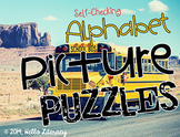 Alphabet Picture Puzzles:Word Work Center - 26 Self-Checki