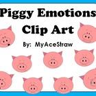 Piggy Emotions Clip Art FREEBIE!