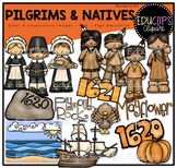 Pilgrims and Natives Clip Art Bundle