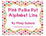 Pink Polka Dot Alphabet Line/Cards