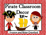 Pirate Decor Editable