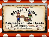 Pirate Themed Nametags - EDITABLE