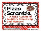 Pizza Scramble- A free Auditory Processing, Sequencing, an