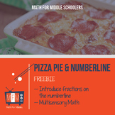 Pizza and the Number Line Freebie