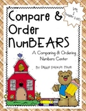 "Place Value: ""Compare NumBEARS"" A Compare & Order Numbers Center"