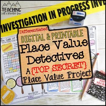 Place Value Detective : A Place Value Project {Enrichment, Centers, Small Group}