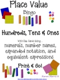 Place Value Fun: Bingo Plus!  {{Print & Go!}}  (Common Core)