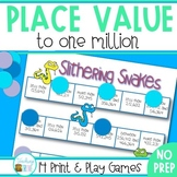 Place Value Games to 1,000,000 -  NO PREP Games and Intera