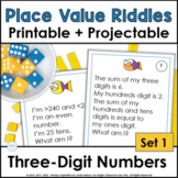 Place Value Riddles for Three-Digit Numbers ~ Fishing Around