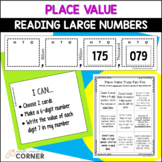 Place Value with Large Numbers: Choice Board and 'I Can' Cards