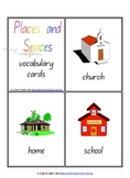 Places & Spaces Vocabulary - Flash Cards - Word Wall - 11 pages