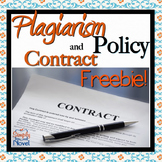 Plagiarism Policy and Contract {FREE}