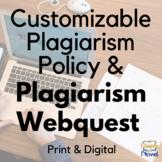 Plagiarism WebQuest {FREE}