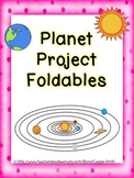 Planet Project Foldables