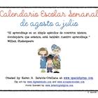 Planning Calendar for Spanish Teachers