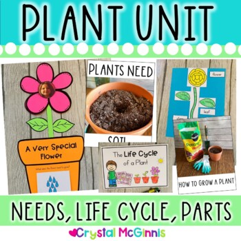 Plants! Mini Unit & Craftivity (Plant Parts, Life Cycle, Needs, and How to Grow)