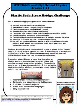 Plastic Soda Straw Bridge Build Challenge - Physics Project