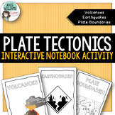 Plate Tectonics Interactive Notebook- Volcanoes, Earthquak