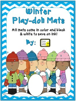 Play-doh Mats ~ Winter