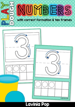 Play Dough Mats - Numbers (0-20) with Ten Frames