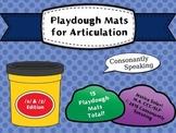 Playdough Mats for Articulation: S & Z Edition