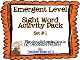 Playdough Tracing Sight Word Mats and Decodable Printable Books