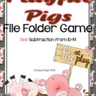 Playful Pigs Subtraction File Folder Game Freebie
