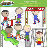 Playground Boys Clip Art