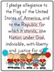 Pledge of Allegiance Mini-Poster, Essential Questions, and