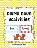 Plural Nouns Activities and Posters