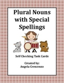 Plural Nouns with Special Spellings Task Cards