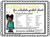 Pocket Chart Schedule Cards