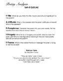 Poem Packet #1 - Analysis, Vocab, Essays, Mini-lessons