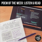 Poem of the Week: a Year of Poems with Audio and Video!