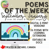 Poems of the Week: An All Year Long Poetry Resource!