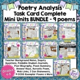 Poetry Analysis Task Card Bundle