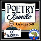Poetry Bundle - Poetry Teaching Resources! Grades 4 - 8