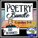 Poetry Bundle - Poetry Teaching Resources! Grades 4 - 8