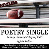 "Poetry Close Reading Lesson: ""The Boys of Fall"" Football,"