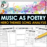 Poetry - Hero Music Lyrics - Write about songs with Hero Theme.