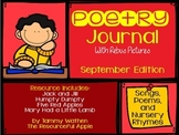 Poetry Notebook with Rebus Pictures {September Edition}