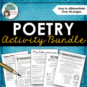 Poetry Package - Creative Assignments to Engage and Involve Students