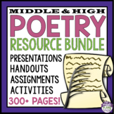 POETRY RESOURCE BUNDLE: Presentations, Assignments, Activi