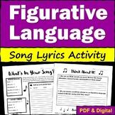 Poetry Figurative Language with Song Lyrics