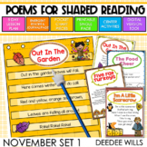 Poetry Station and Shared Reading for November-CC aligned