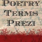 Poetry Terms Prezi presentation with handout