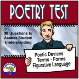 Poetry Test - Terms, Poetic Devices, Figurative Language and Form